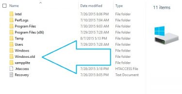 Delete the Windows.old Folder