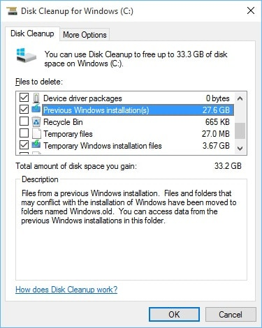 Delete the Windows old Folder After Windows 10 Upgrade