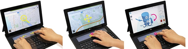 Microsoft DisplayCover for Surface - Gestures