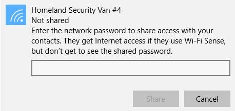 Windows 10 Wi-Fi Sense PW