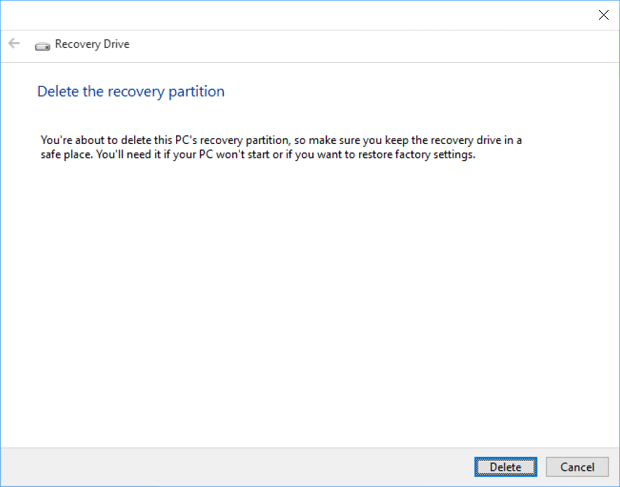 Reclaim Space After Windows 10 Upgrade 2