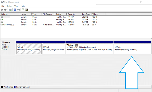 Reclaim Space After Windows 10 Upgrade Disk Manager