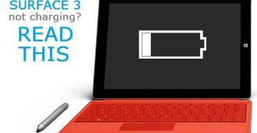 Surface 3 Is Plugged In But Not Charging