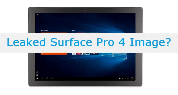 Surface Pro 4 Image Leak