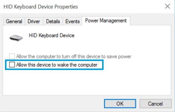 Surface Won't Stay Asleep Device Manager-Ckeckbox