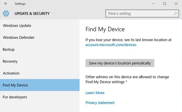 Find Your Surface- Find My Device