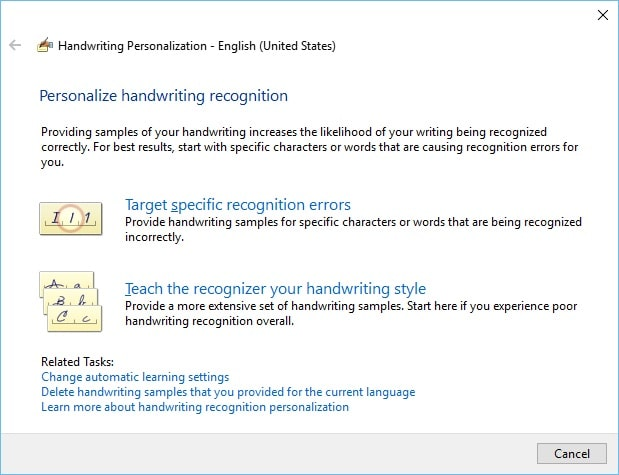 Improve Windows 10 Handwriting Recognition For Surface - Love My Surface