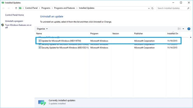 More November Updates for Surface Uninstall
