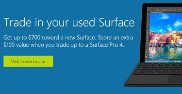 Trade in your old Surface tablet