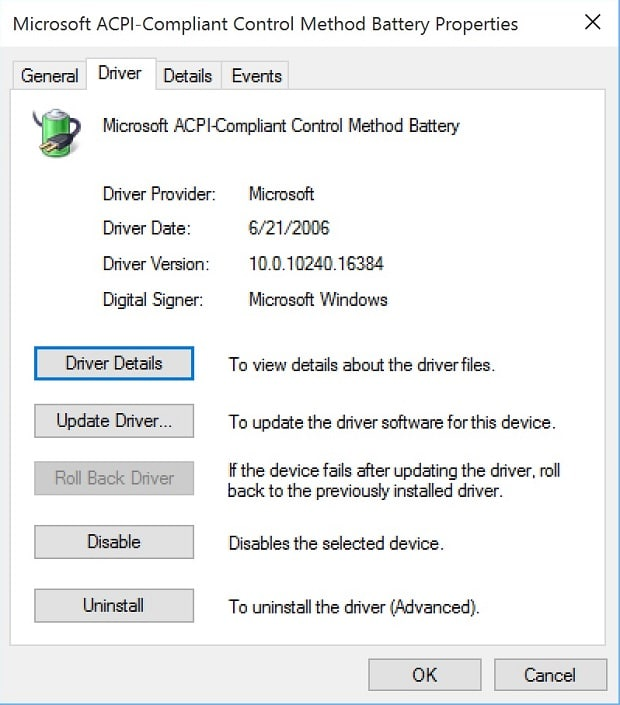 Update Surface Battery Drivers Old Driver Version