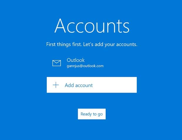 set up email app
