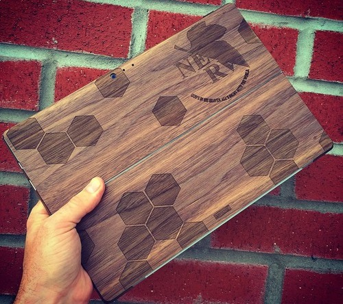 Custom Wood Cover for Surface Book or Surface Tablets