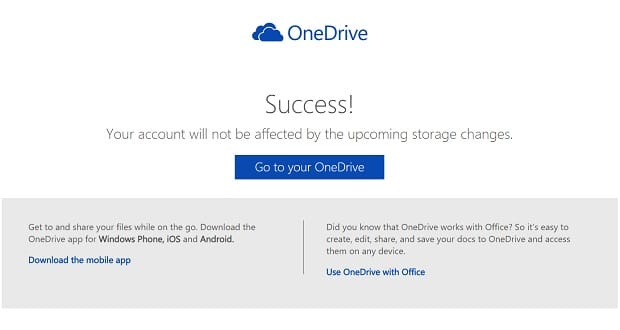 Keep Your Current OneDrive Space Limits