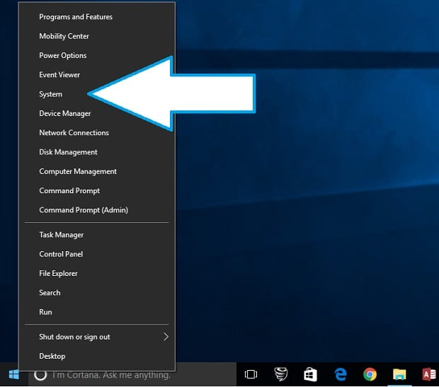 Using Windows 10 System Protection Menu