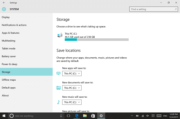 how to clear up hard drive space windows 10
