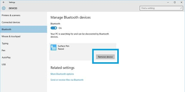 Problems with Surface App unpair