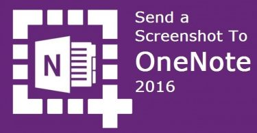 Send a Screenshot to OneNote 2016
