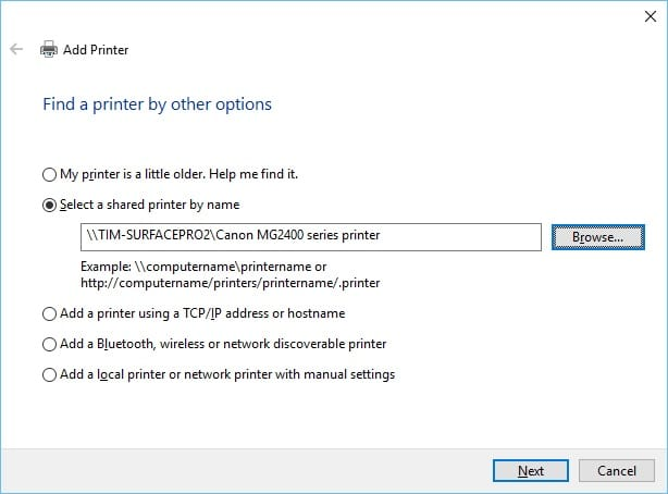 How to add a network printer When it doesn't work