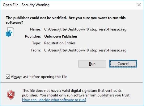 Windows 10 Update Resets Default Apps-Warning