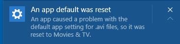 Windows 10 Update Resets Default Apps