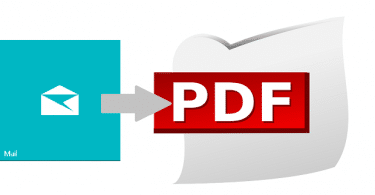 email to pdf