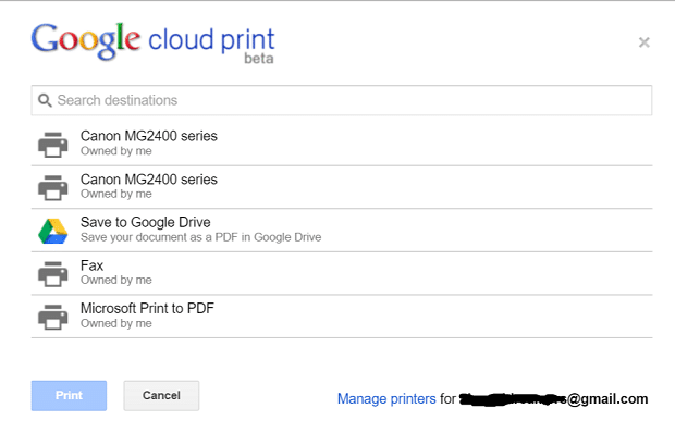 Printing 101 Part 2: Printing With Google Cloud Print Printers