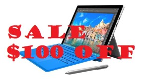 Sale $100 on Surface Pro 4