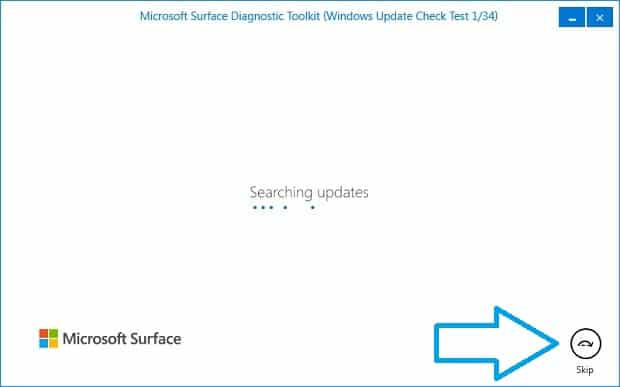 Surface Diagnostic Toolkit Running
