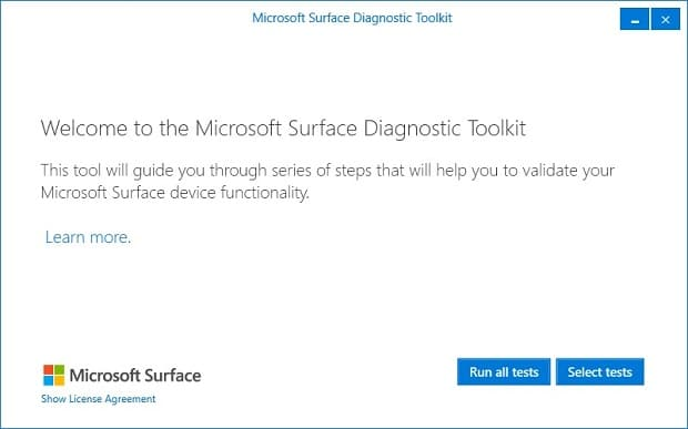 Surface Diagnostic Toolkit Welcome