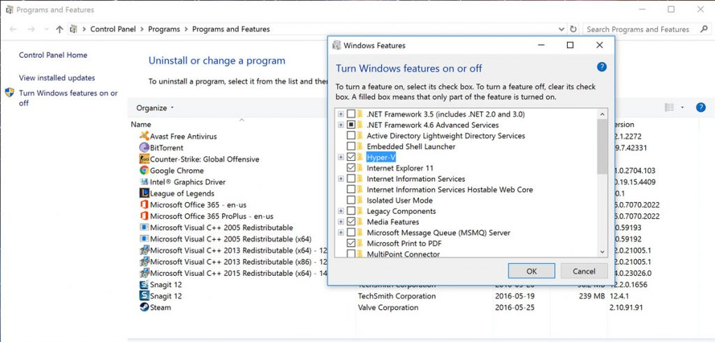 HyperV feature