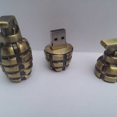 usb in grenade shape