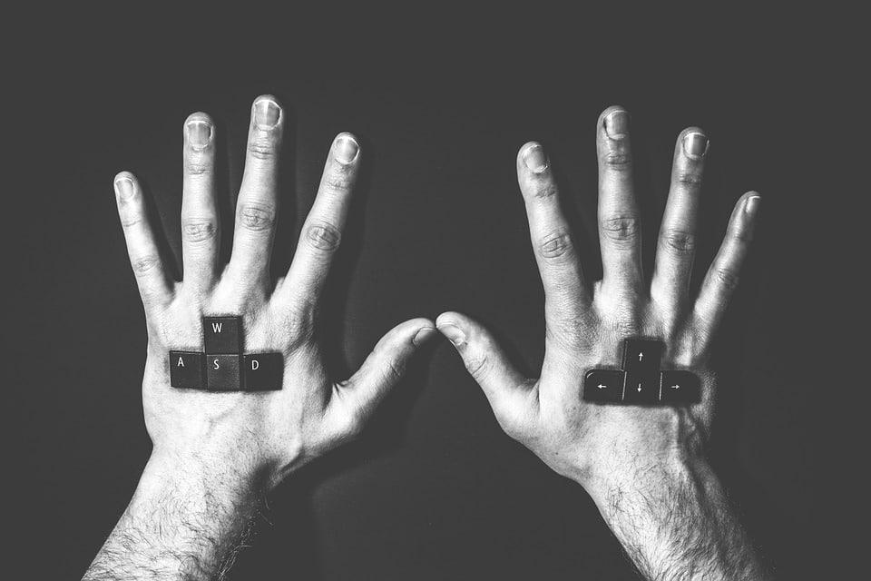 hands of a gamer